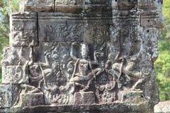 Arte de la piedra de Apsara Fotos de archivo libres de regalías