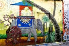 Arte de la pintada en San Francisco, California Foto de archivo libre de regalías