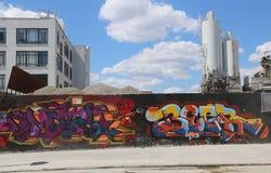 Arte de la pintada en Williamsburg del este en Brooklyn Imágenes de archivo libres de regalías
