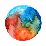 Arte de la pintura de la acuarela de la luna del milagro fotografía de archivo