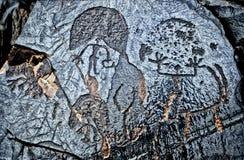 Arte de la roca Fotos de archivo libres de regalías