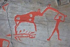 Arte de la roca de Alta Fotos de archivo