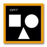 Arte de la tarjeta del negro de la educación del ABC fotografía de archivo libre de regalías