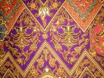 Arte de la tela del batik Foto de archivo libre de regalías
