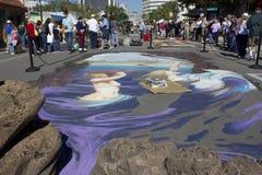 arte de la tiza 3D en Sarasota la Florida Fotografía de archivo libre de regalías