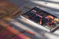Arte de la tiza de la acera Fotografía de archivo