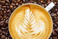 Arte de Latte Fotografía de archivo libre de regalías