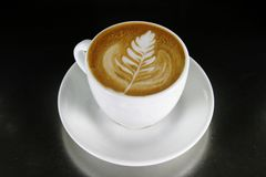 Arte de Latte do Cappuccino Fotografia de Stock