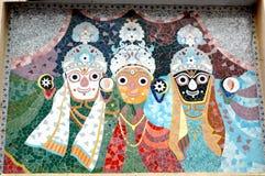 Arte de los azulejos de mosaico del templo de Jagnnath, Ahmadabad Fotografía de archivo