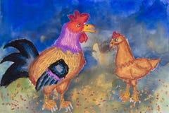 Arte de los niños - animales del campo stock de ilustración