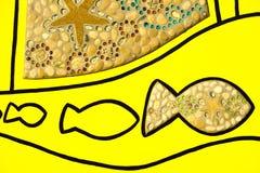 Arte de los pescados y de las cáscaras Imagenes de archivo