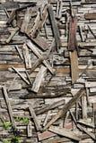 Arte de madeira recuperada da parede Fotografia de Stock Royalty Free