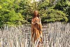 Arte de madeira sacral mexicana imagem de stock royalty free