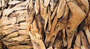 Arte de madera del pedazo Fotografía de archivo