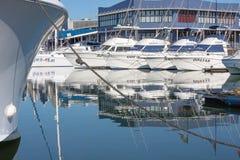 Arte de ocio en el puerto de Durban Fotos de archivo