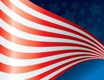 Arte de ondulação da bandeira americana Ilustração Stock