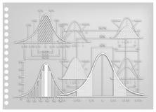 Arte de papel de diagramas do desvio padrão com cartas do tamanho da amostra Imagens de Stock Royalty Free