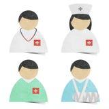 Arte de papel reciclado etiqueta médico y del cuidado médico. Fotos de archivo libres de regalías