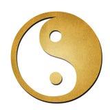 Arte de papel yaing do símbolo de Ying Fotografia de Stock Royalty Free