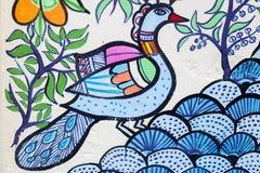 Arte de Peacocke_Wall para as festividades de anos novos de Bangla Imagens de Stock