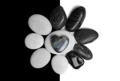 Arte de piedra del corazón Fotos de archivo libres de regalías