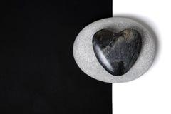 Arte de piedra del corazón Imágenes de archivo libres de regalías