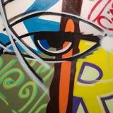 Arte de pintura abstrata: Cursos com testes padr?es diferentes da cor como azul, amarelo, alaranjado, verde, vermelho, etc. ilustração stock