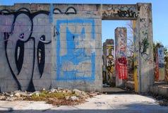 Arte de Stree del vándalo de la pared de la pintada Imagen de archivo