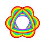 Arte decorativo del extracto del objeto del color del arco iris Imágenes de archivo libres de regalías