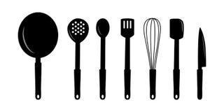 Arte degli utensili della cucina Fotografie Stock Libere da Diritti
