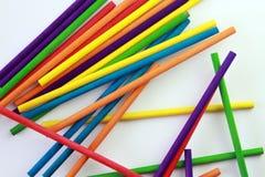 Arte dei bastoni colorati Fotografie Stock