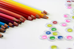 Arte dei bastoni colorati Fotografia Stock Libera da Diritti