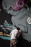 Arte dei graffiti Fotografia Stock