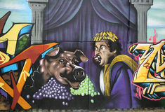 Arte dei graffiti al viale metropolitano a Brooklyn Fotografia Stock