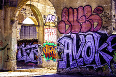 Arte dei graffiti in California Immagine Stock Libera da Diritti