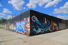 Arte dei graffiti a Williamsburg orientale a Brooklyn Fotografia Stock Libera da Diritti