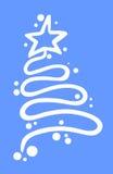 Arte del árbol de navidad Imágenes de archivo libres de regalías