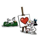 Arte del amor Imagen de archivo libre de regalías