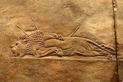 Arte del asirio de Acient Imagenes de archivo