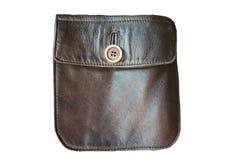 Arte del bolsillo del cuero del vintage Un objeto en un fondo blanco fotografía de archivo libre de regalías