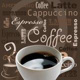 Arte del café Foto de archivo