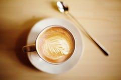 Arte del café del Latte Imagenes de archivo