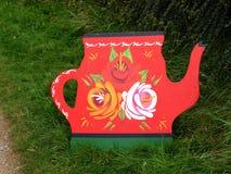 Arte del canale delle rose e dei castelli alla celebrazione di 200 anni del canale di Leeds Liverpool a Burnley Lancashire Immagini Stock Libere da Diritti