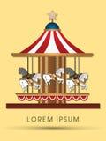 Arte del cavallo del carosello illustrazione di stock