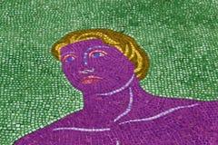 Arte del colorear-estallido de la cara del mosaico imagenes de archivo
