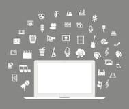 Arte del computer portatile royalty illustrazione gratis
