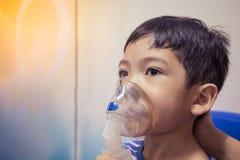 Arte del detalle de la falta de definición del nebulizador del niño Fotografía de archivo libre de regalías