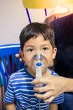 Arte del detalle de la falta de definición del nebulizador del niño Fotografía de archivo