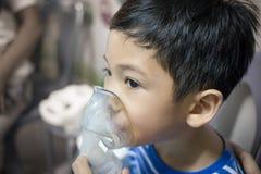 Arte del detalle de la falta de definición del nebulizador del niño Foto de archivo libre de regalías