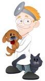 Doctor animal - personaje de dibujos animados - ejemplo del vector Imagen de archivo